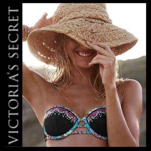 NWOT VS Embellished Bandeau Bikini Top